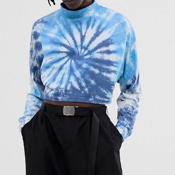 ASOS Tops - ASOS oversized cropped tie dye long sleeved tee